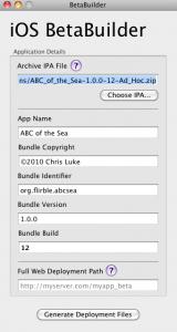BetaBuilder-TDO App showing ABC of the Sea metadata
